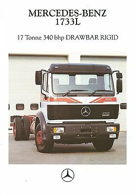 1990 Mercedes 1733L Technical Specification Brochure