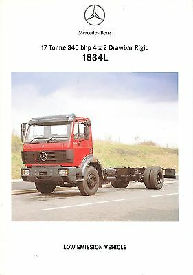 1994 Mercedes 1834L Technical Specification Brochure