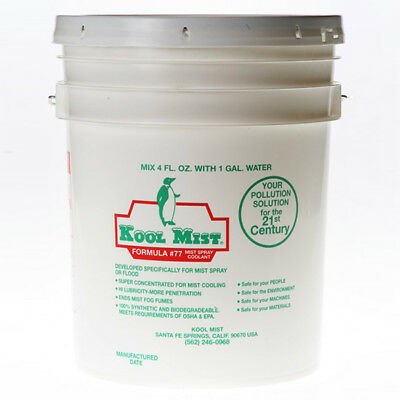 Kool Mist 5 Gallon #77 Concentrated Coolant For Kool Mist System Usa
