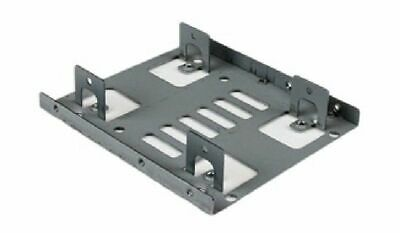 """StarTech Dual 2.5"""" to 3.5"""" HDD Bracket for SATA Hard Drives for Mounting Bay"""