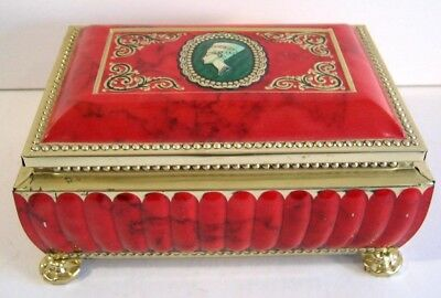 Metal Tin Box Blue Bird Confectionery Harry Vincent Worcestershire England Red