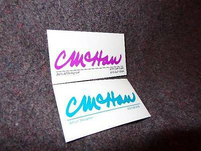 Chuck McHan *Business Cards From The Late Artist/Painter*Charles Henry McHan