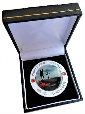 First 1st World War 1  WW1 Centenary We Will Remember Coin Medal - Boxed