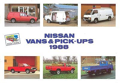 1988 (Sept) Nissan Vans + Pick-Ups Brochure