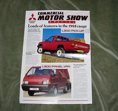 1988 Mitsubishi Van Range Newsletter/sales Sheet