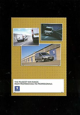 2008 (Apr) Peugeot Van Range Sales Booklet
