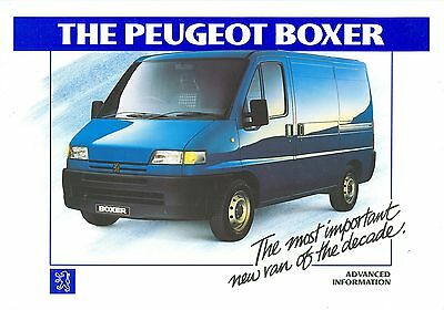 Peugeot Boxer Advanced Information Brochure