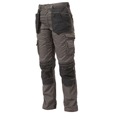 Apache Grey Trousers  Heavy Duty Work Multi Pocket Trousers Tradesman Trousers