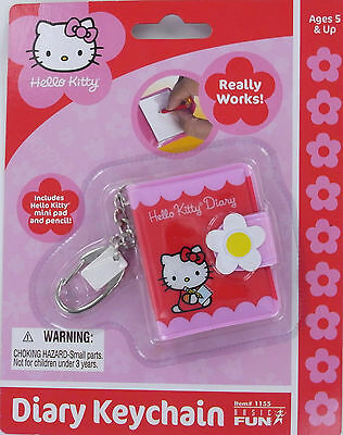 HELLO KITTY DIARY Keychain Keyring mini pad & pencil Basic Fun Sanrio 1155 MOC