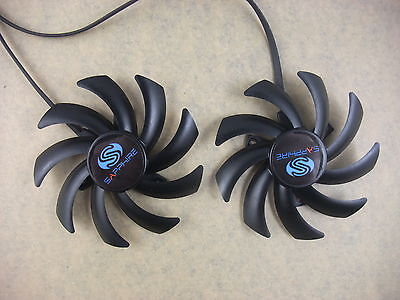 85mm Sapphire HD7870 7950 7970 Dual-X Fan FD7010H12S Instead Of FDC10H12S9-C3020