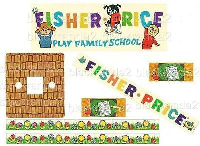 Vintage Fisher Price Little People 923 School Replacement Lithos Stickers 1 Page