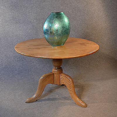 Elm Dining Table English Centre Pedestal Round Breakfast Display Top Quality