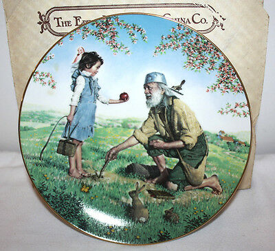Johnny Appleseed Bradford Exchange 1983 Collector Plate
