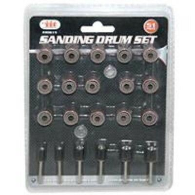 51pc Sanding Drums Set with Mandrels and Sleeves Paper 80615