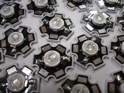 5 Pieces 3W High Power LED Star Emitter : UV (UltraViolet) 420-430nm