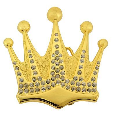 The Royal Crown Belt Buckle mens womens girly girls youth Ladies gold metal New