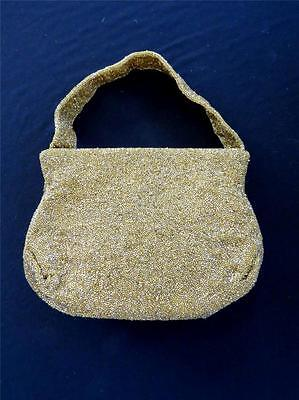 "Vintage ""josef"" French 1950's-1960's Gold Beaded Evening Bag  9""l X 7""h X 2""w"