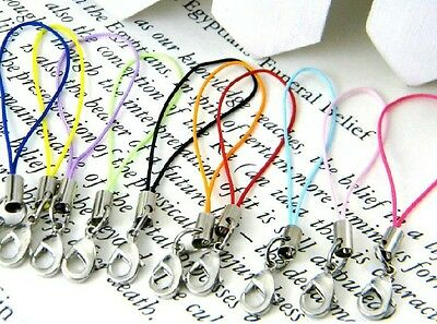 100 pcs mix colors Mobile Cell Phone cords Strap Lariat Lanyard Lobster Clasp