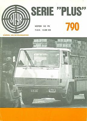 Steyr Plus Series 790 Specification Brochure (Dutch)