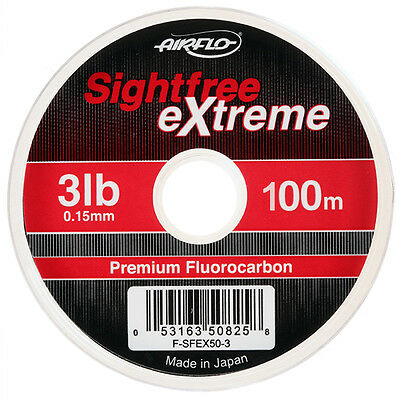 Airflo NEW Sightfree Extreme Fluorocarbon Fly Fishing Leader - 50 or 100 Meters