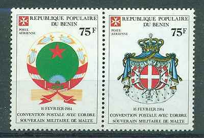 BENIN 1984 POST CONTRACT WITH THE MALTESE ORDEN MNH M8787