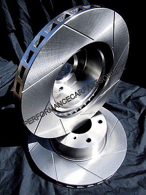 SLOTTED Ford TERRITORY Turbo FRONT Disc Brake Rotors NEW PAIR with Warranty