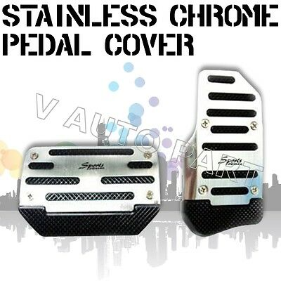 2pcs Non slip Automatic Transmission AT CAR TRUCK CHROME PEDAL Foot PAD COVER