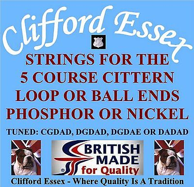 Clifford Essex Cittern Strings. Heavy 11-46 Octave/double Strung. British Made