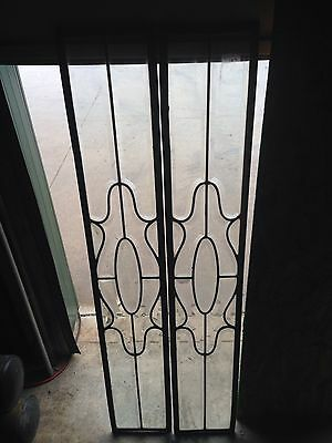 One Pair Bevel Glass Sidelights In Zinc No Wood Frame Sg 23