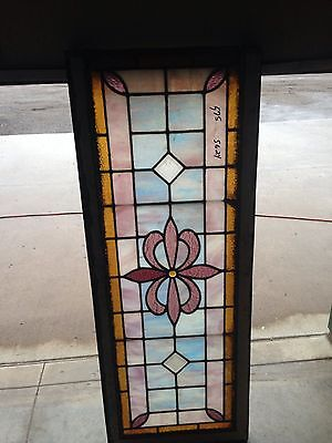 Nice Antique Stained Glass Window Sg 24