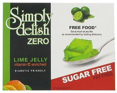 3 x Sugar Free Lime Jelly 8g, Fat Free, Low Carb, Atkins, Diabetic, Gelatin Free