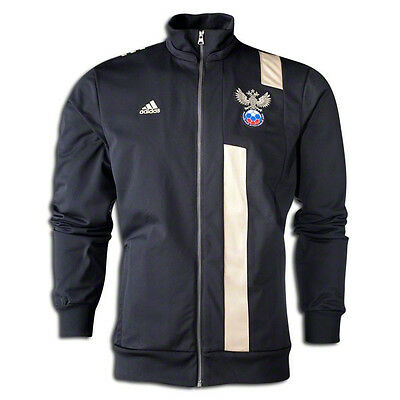 adidas Womens Russia WC World Cup 2014 Soccer Anthem Jacket Black / Gold
