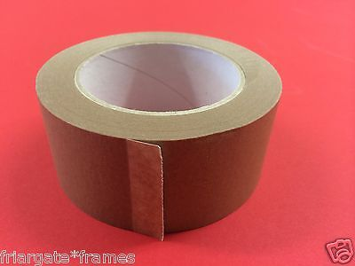 50mm Brown Adhesive Backing Tape Picture Framing 50m NEW