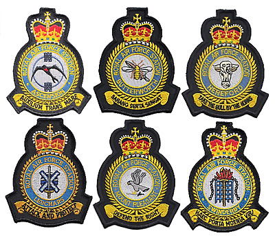 Royal Air Force RAF Stations - OFFICIAL MOD Approved Embroidered Patches