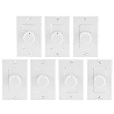 7 Pack Slider Speaker Volume Control Ceiling Wall Mount Home Speakers Controller