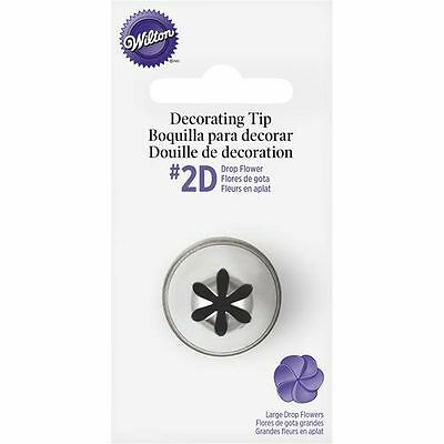 Wilton #2D Large Drop Flower Decorating Tip Icing Nozzle Sugarcraft Cookie Dough