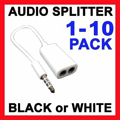 Headphone Splitter AUX Cable Earphone Adapter 3.5mm Stereo Jack Audio Plug Input