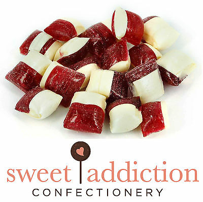 750g Strawberry Creams Rock Candy - Boiled Sweets Bulk Party Lolly Buffet Favour