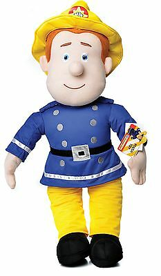 "Official Brand New 17"" Fireman Sam Plush Soft Toy Teddy Fireman Sam"