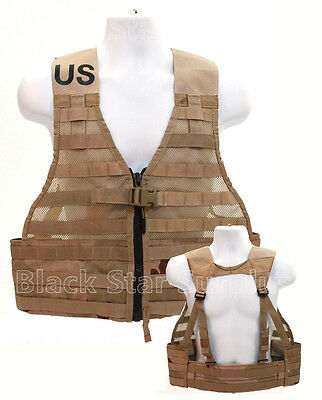 New USMC Army Fighting Load Carrier (FLC) Desert Camo Tactical MOLLE Vest