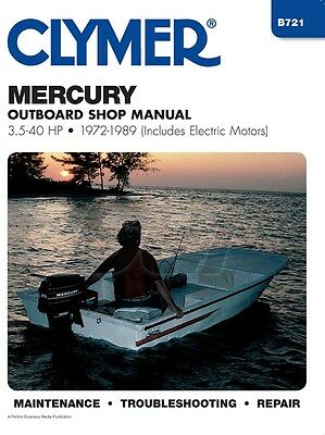 Clymer Mercury Shop Manual 3.5-40 HP 1972-1989