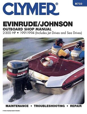 Clymer Evinrude Johnson Shop Manual 2-300 HP 1991-1993