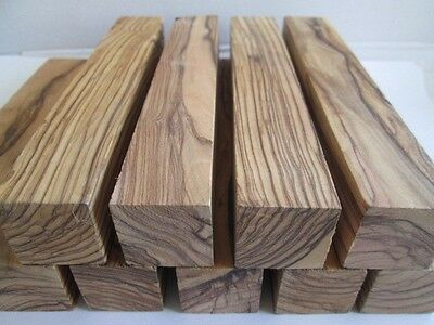 "4 Large Olive Wood Pieces 1"" X 1""X 6"" ~ knife handle/ Pen Turning Blanks. Figure"