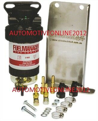 Fuel Manager Toyota Hilux 3.0L Diesel D4D Water Separator Secondary Filter Kit