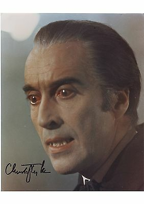 Christopher Lee - Signed Dracula A4 Laminated Poster