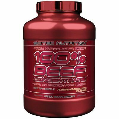 100% Beef Concentrate 2kg Scitec Proteine Bouef Prise Muscle Rapide