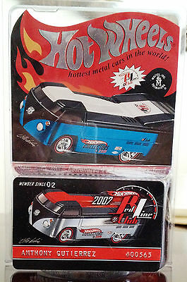 Hot Wheels Redline RLC 2007 Club Membership Car VW Volkswagen Type 2 Drag Truck