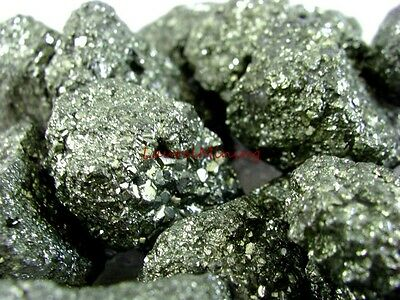 Natural PYRITE - 2000 CARAT Lots - Fool's Gold Glittery Chunks - Plus Free Gifts