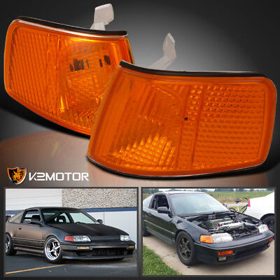 For 1990-1991 Honda CRX JDM Amber Turn Signal Lamps Corner Lights Replacement