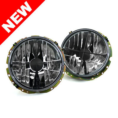 "Vw Rabbit Mk1 / Cabriolet E-Code 7"" Round Crosshair Headlights - Crystal Clear"